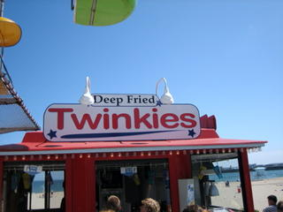 Beach stall: Deep Fried Twinkies.