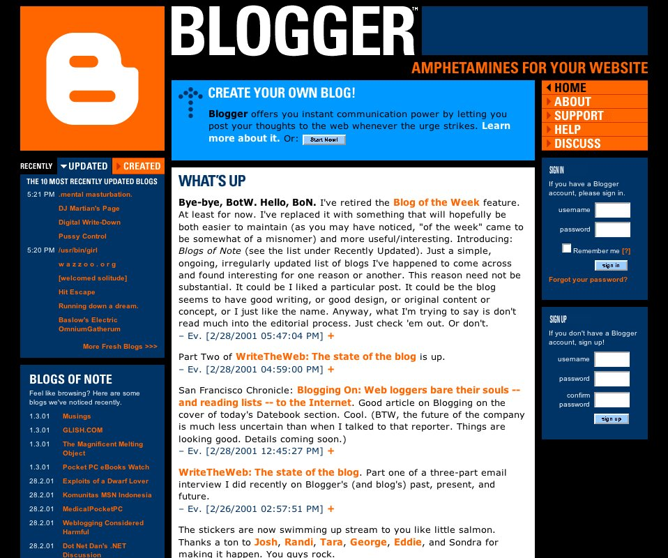 official blogger blog  concerning the historie and nature of blogs of note
